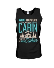 What Happens At The Cabin Stays At The Cabin Unisex Tank thumbnail