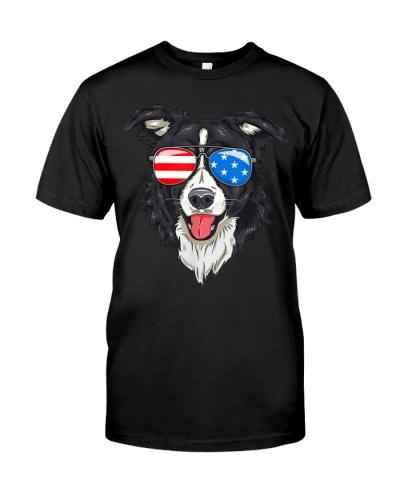 Border Collie Lover Patriotic Dog