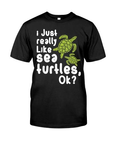 I just really like Sea Turtles Tortoise Funny