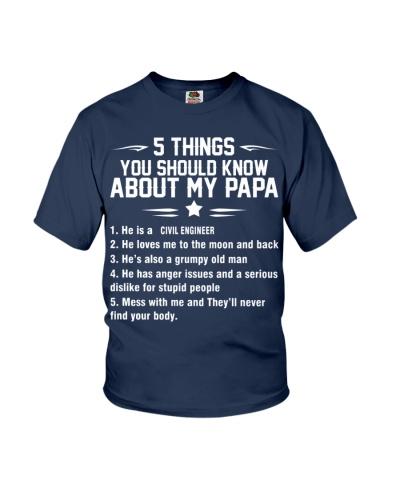 MY PAPA IS AN CIVIL ENGINEER