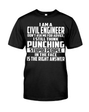 Civil Engineer DONT ASK ME FOR ADVICE Classic T-Shirt tile