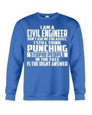 Civil Engineer DONT ASK ME FOR ADVICE Crewneck Sweatshirt front