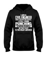 Civil Engineer DONT ASK ME FOR ADVICE Hooded Sweatshirt thumbnail