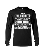 Civil Engineer DONT ASK ME FOR ADVICE Long Sleeve Tee tile