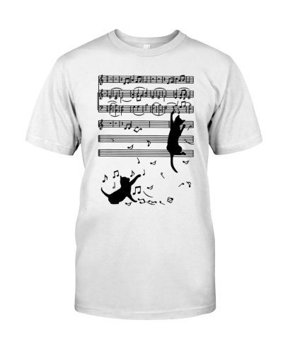 Cat Kitty Playing Music Note Clef Musician Art