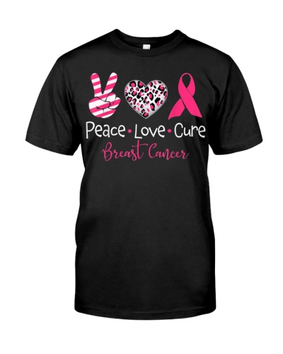 Peace Love Cure Pink Ribbon Breast Cancer