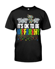It's Ok To Be Different Autism Awareness Classic T-Shirt front