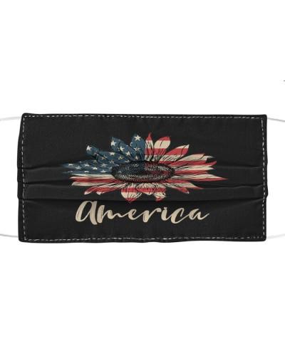 America Sunflower Flag 4th July American