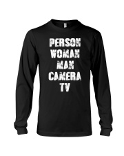 Person-Woman-Man-Camera-TV Long Sleeve Tee thumbnail