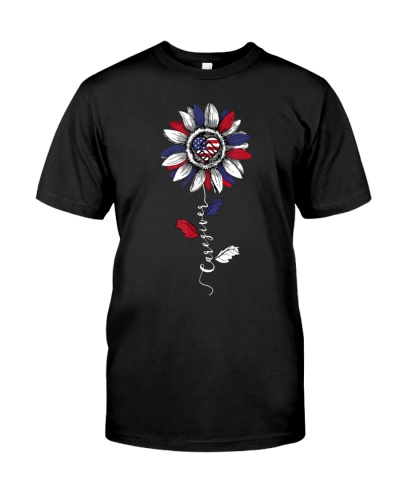 Caregiver Sunflower American Flag