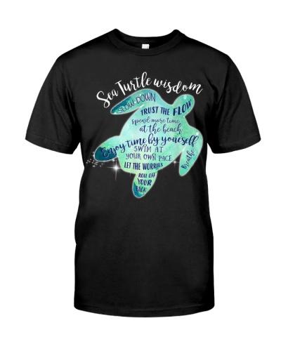 Sea Turtle Wisdom Slow Down Breathe Turtle Lovers