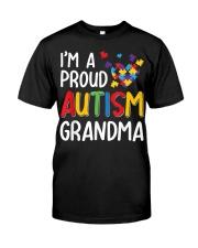 I'm A Proud Autism Grandma Autism Awareness Classic T-Shirt front