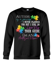 Autism Is A Journey Autism Awareness Mom Crewneck Sweatshirt thumbnail