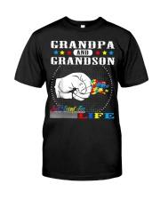 Autism Grandpa Grandson Best Friend for Life Classic T-Shirt front