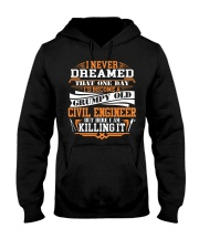 BECOME A GRUMPY OLD Civil Engineer Hooded Sweatshirt thumbnail