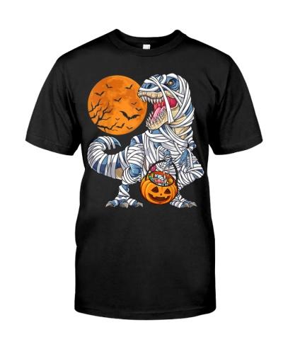 Dinosaur T rex Mummy Pumpkin