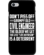 DONT PISS OFF GRUMPY OLD Civil Engineer Phone Case thumbnail