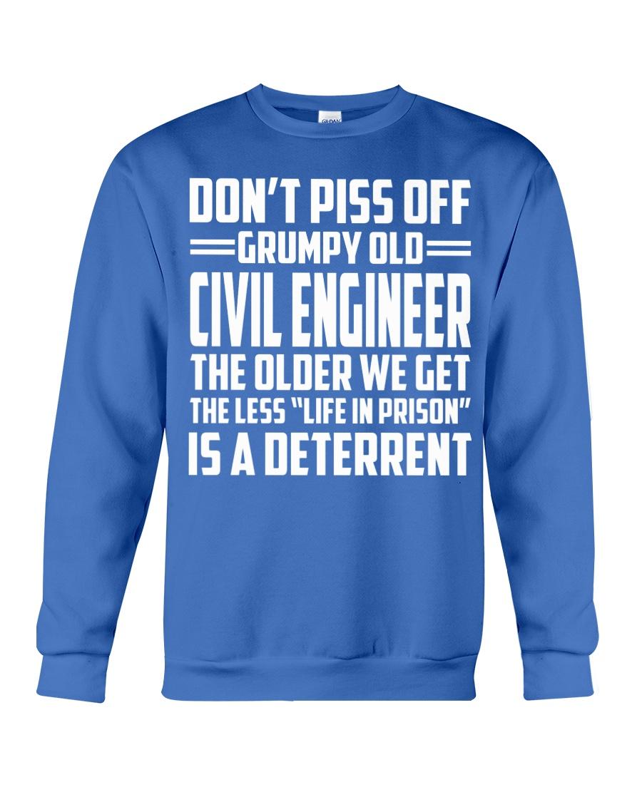 DONT PISS OFF GRUMPY OLD Civil Engineer Crewneck Sweatshirt