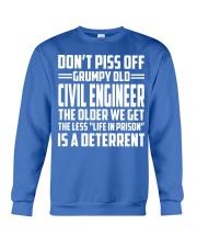 DONT PISS OFF GRUMPY OLD Civil Engineer Crewneck Sweatshirt front