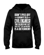 DONT PISS OFF GRUMPY OLD Civil Engineer Hooded Sweatshirt thumbnail