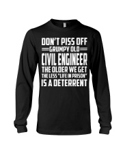 DONT PISS OFF GRUMPY OLD Civil Engineer Long Sleeve Tee thumbnail