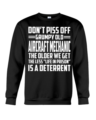 DONT PISS OFF GRUMPY OLD AIRCRAFT MECHANIC