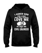 HE SENT ME A CIVIL ENGINEER Hooded Sweatshirt thumbnail