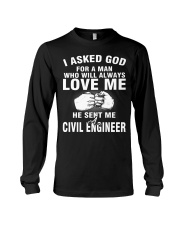 HE SENT ME A CIVIL ENGINEER Long Sleeve Tee thumbnail