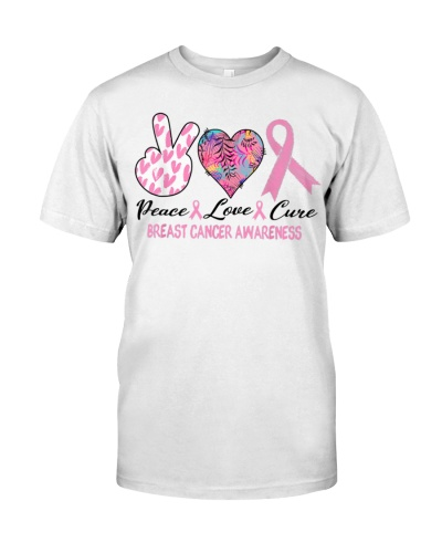 Peace Love Cure Breast Cancer Awareness