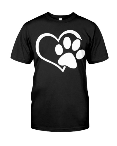 Love Dogs Paw Print Heart
