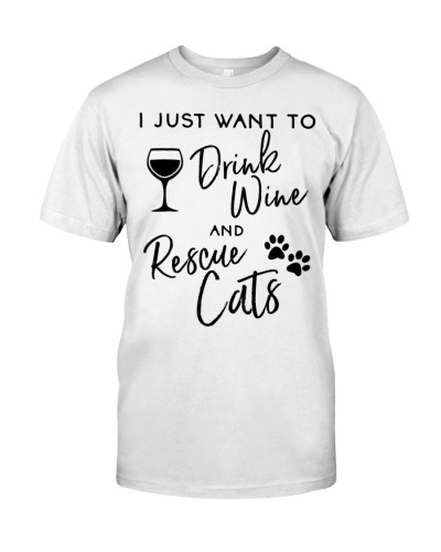 Just Want To Drink Wine Rescue Cats Kitten Lover