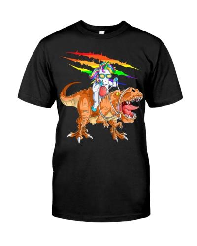 Unicorn Riding T-Rex Dinosaur