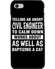 TELLING AN ANGRY CIVIL ENGINEER TO CALM DOWN Phone Case thumbnail