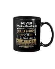 NEVER UNDERESTIMATE AN ENGINEER Mug tile