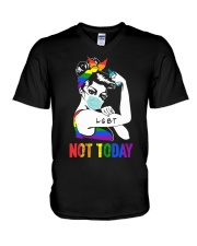 LGBT Not Today V-Neck T-Shirt thumbnail