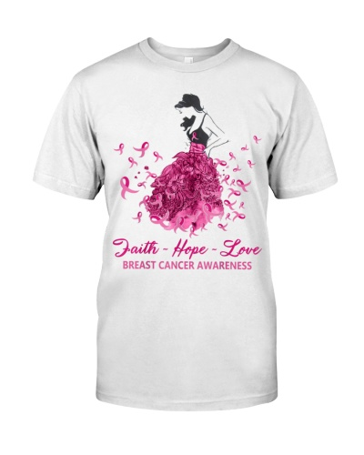 Beautiful Women Pink Ribbon Breast Cancer Awarenes
