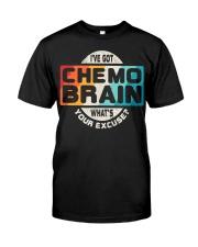 Cancer Chemo Brain Retro Awareness Classic T-Shirt front
