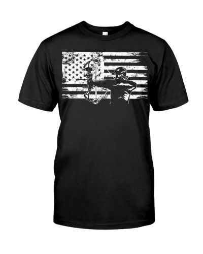 Hunting Archer American Flag