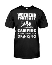 Weekend Forecast Camping Classic T-Shirt front