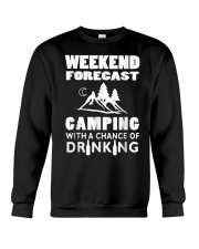 Weekend Forecast Camping Crewneck Sweatshirt thumbnail