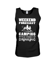 Weekend Forecast Camping Unisex Tank thumbnail