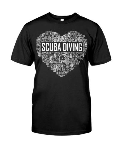 Scuba Diving Heart Diver