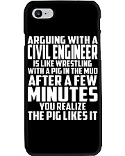 ARGUING WITH A Civil Engineer Phone Case thumbnail