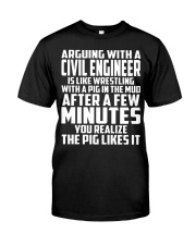 ARGUING WITH A Civil Engineer Classic T-Shirt thumbnail