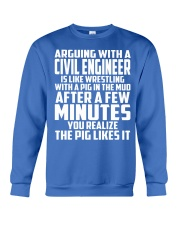 ARGUING WITH A Civil Engineer Crewneck Sweatshirt front