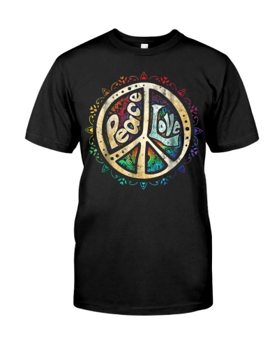 Retro Psychedelic Peace Sign Hip Funky Radical