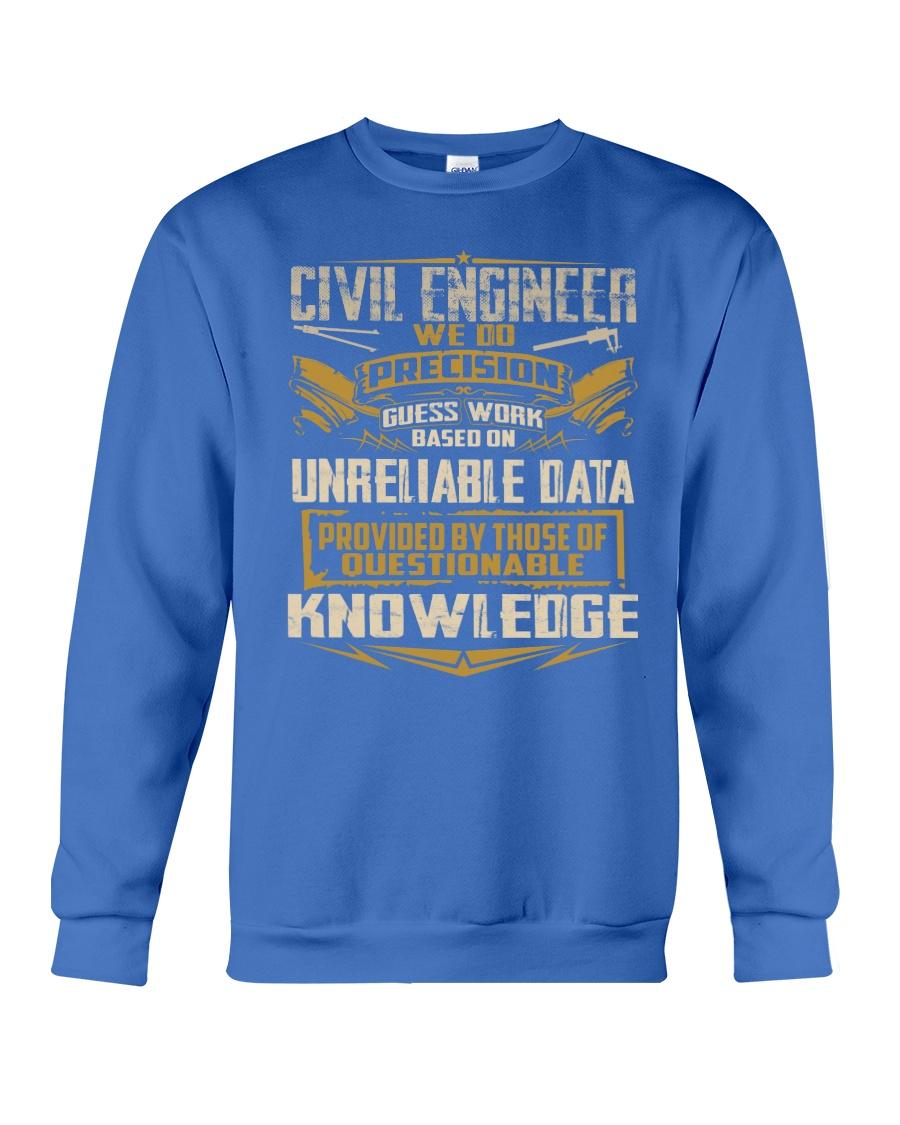 Civil Engineer WE DO PRECISION Crewneck Sweatshirt