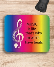 Music Is Life That's Why Hearts Have Beats Mousepad aos-mousepad-front-lifestyle-1