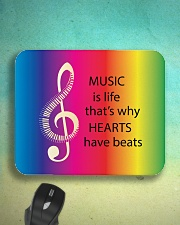 Music Is Life That's Why Hearts Have Beats Mousepad aos-mousepad-front-lifestyle-3