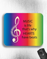 Music Is Life That's Why Hearts Have Beats Mousepad aos-mousepad-front-lifestyle-4